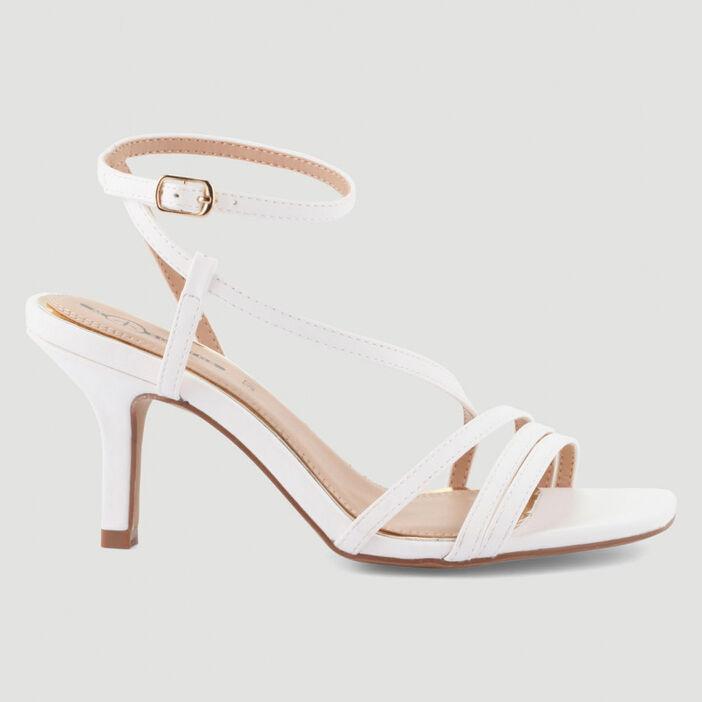 Sandales à talon Mosquitos femme blanc