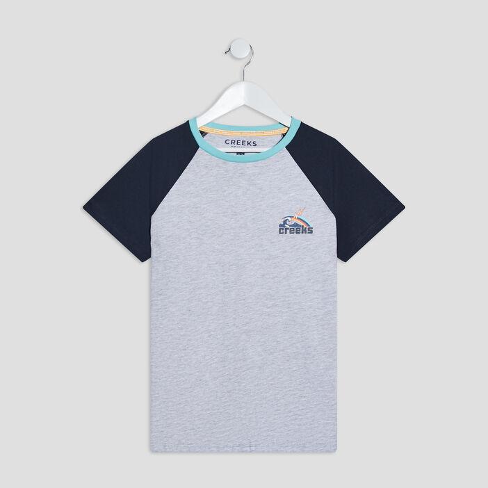 T-shirt manches courtes Creeks garçon gris