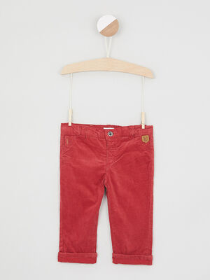 Pantalon uni 4 poches rouge bebeg
