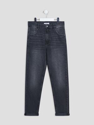 Jeans mom denim noir fille