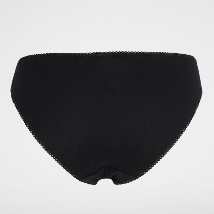 Culotte NOUGAT avec dentelle femme noir
