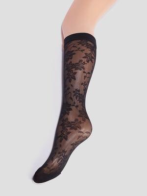 Chaussettes dentelle noir femme