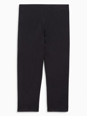Legging uni taille elastiquee noir fille