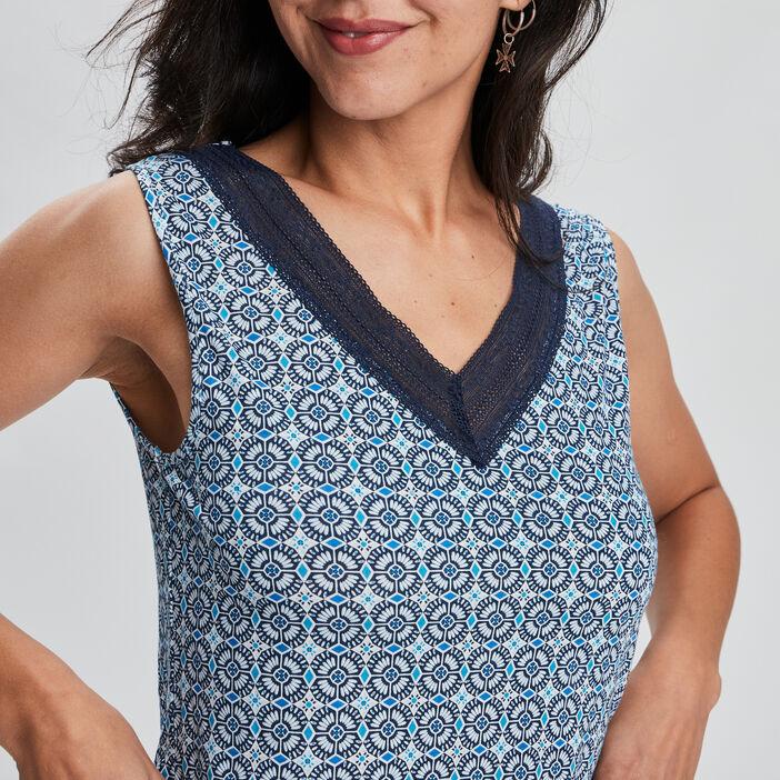 Haut de pyjama femme bleu