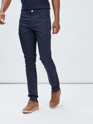 Pantalon slim bleu marine homme
