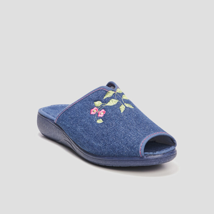 Chaussons mules femme denim used