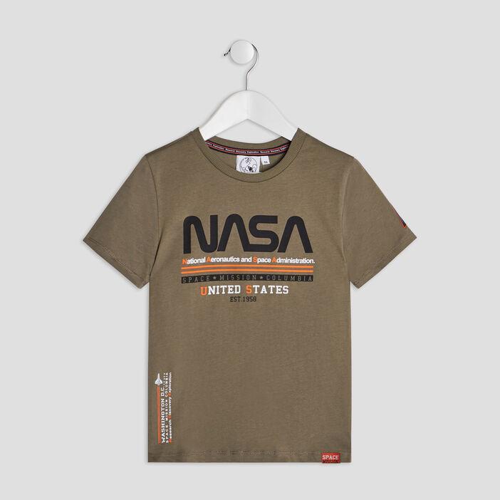 T-shirt manches courtes NASA garçon vert kaki