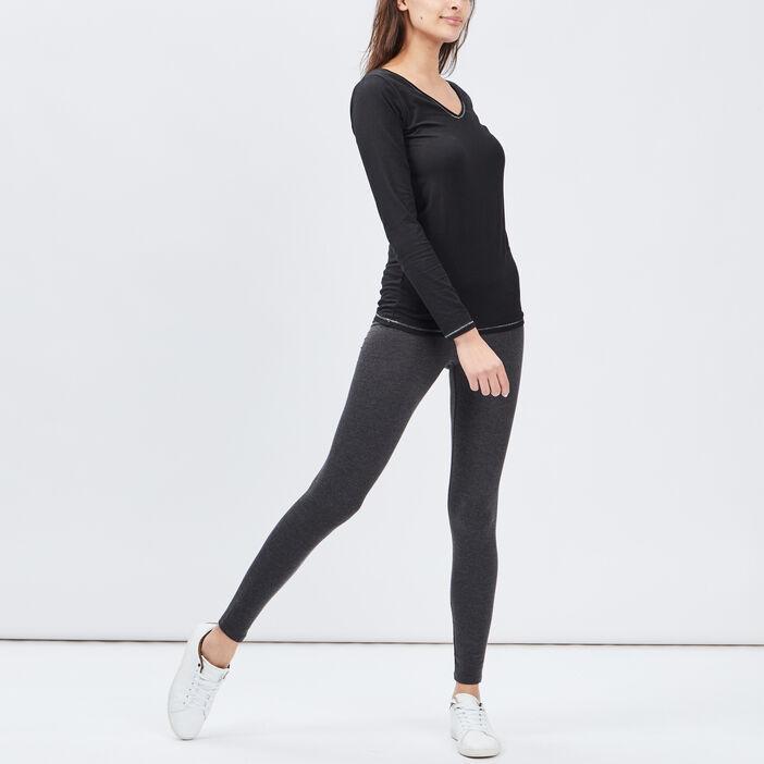 Legging femme gris foncé