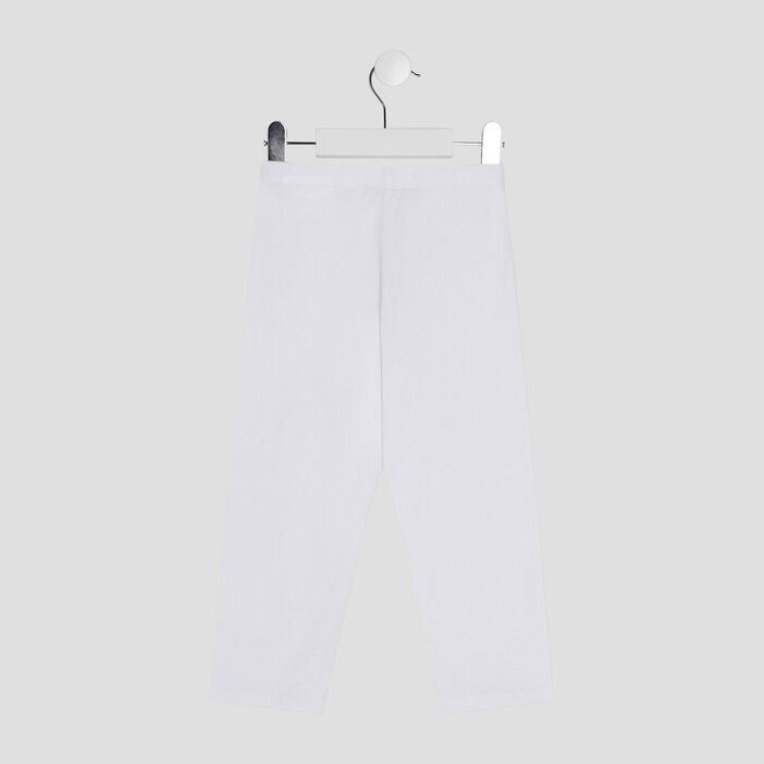Pantalon legging 7/8ème fille blanc