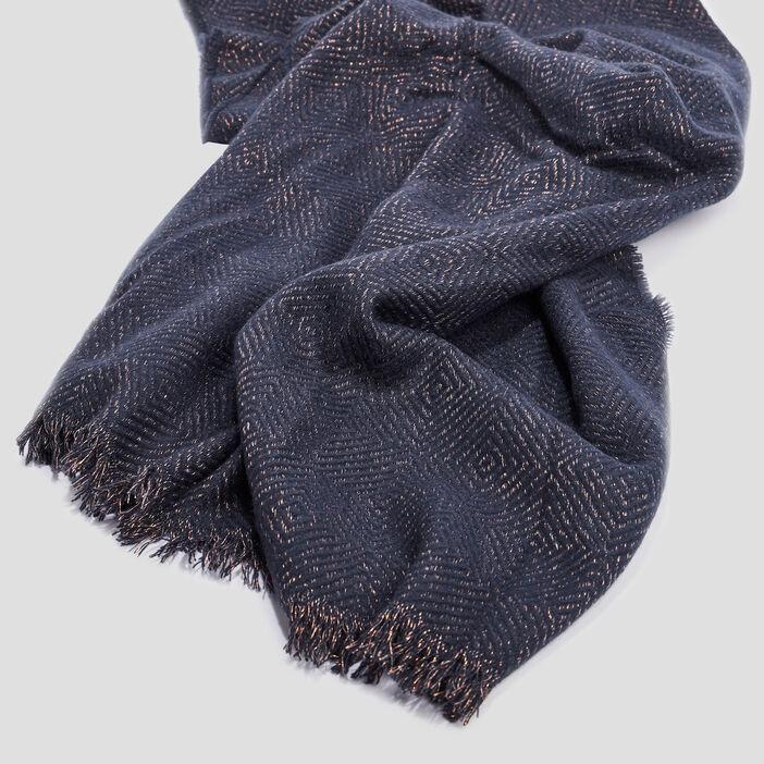 Écharpe femme bleu marine