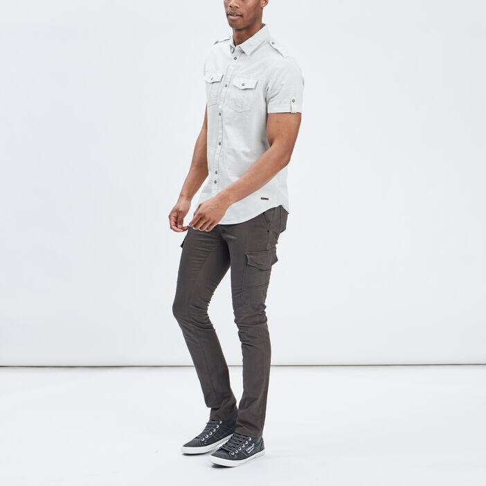 Pantalon battle slim stretch homme gris foncé