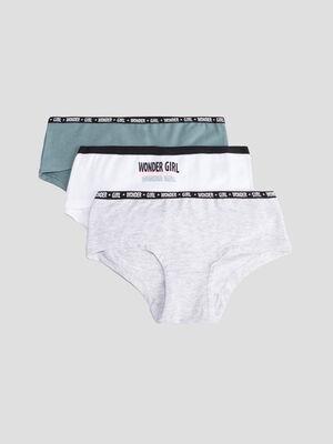 Lot 3 boxers vert kaki fille