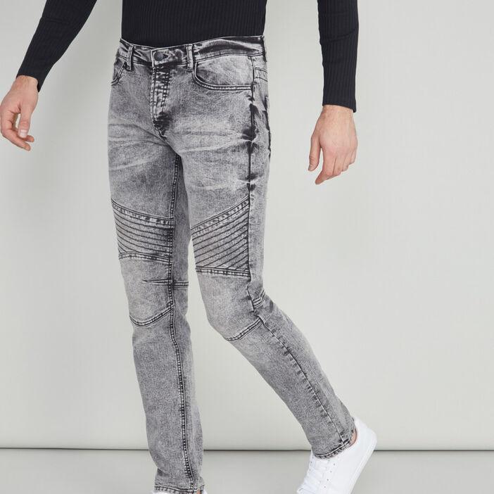 Jean slim coton majoritaire homme gris