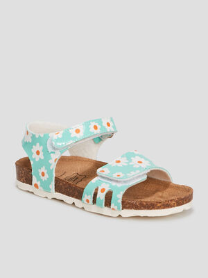 Sandales bleu turquoise fille