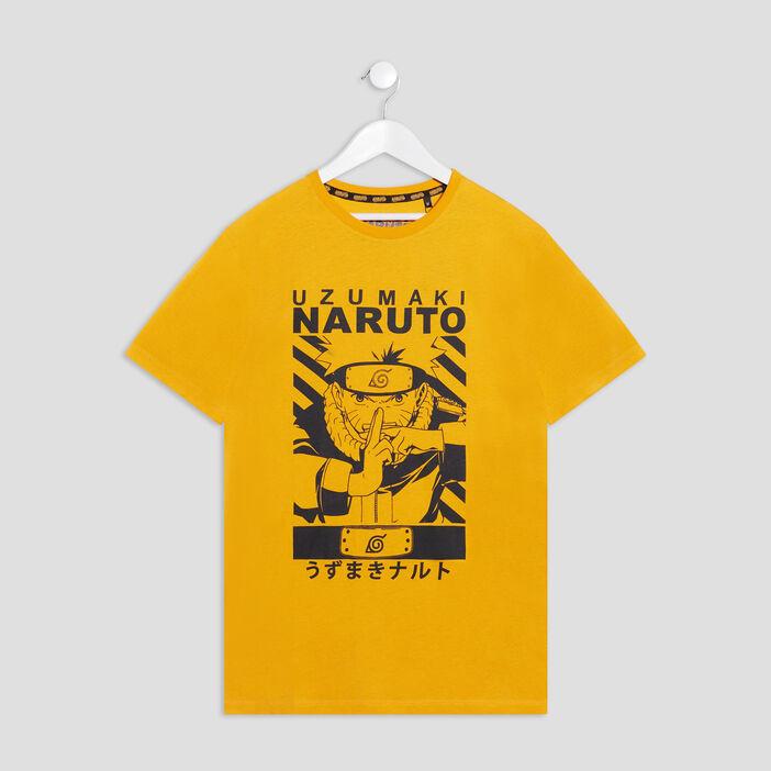 T-shirt manches courtes Naruto garçon jaune foncé