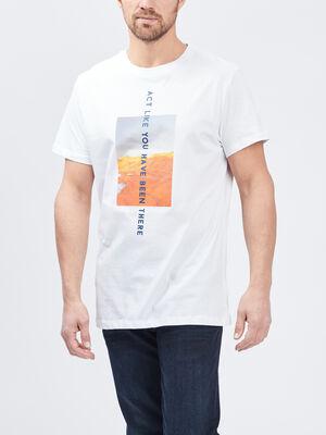 T shirt Trappeur blanc homme