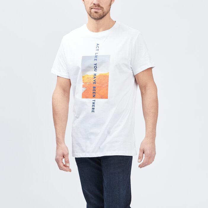 T-shirt Trappeur homme blanc