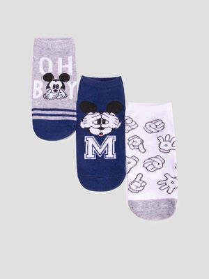 Lot 3 chaussettes Mickey multicolore