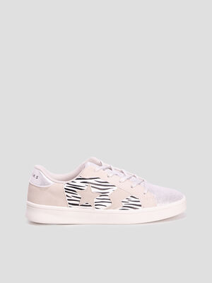 Baskets tennis Creeks couleur argent fille
