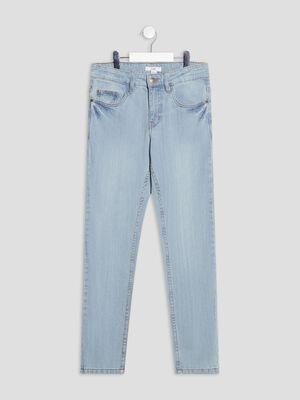 Jeans straight denim double stone garcon