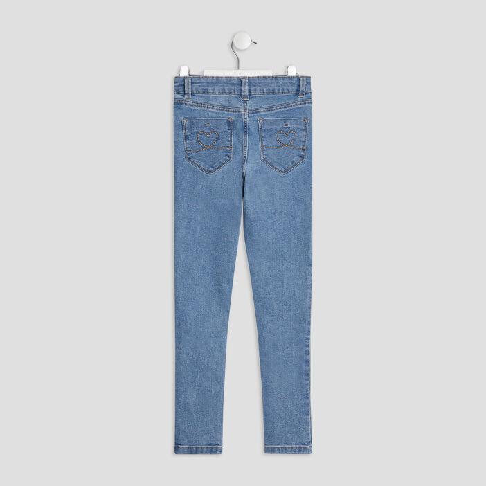 Jeans slim taille standard fille denim double stone