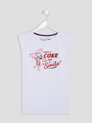 T shirt Coca Cola blanc fille