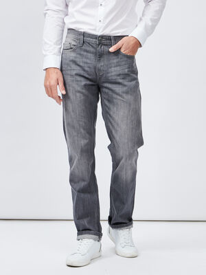 Jeans regular gris homme