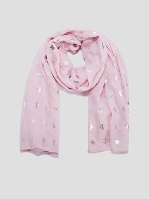 Foulard rose fille
