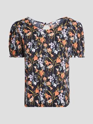 T shirt manches courtes multicolore femme