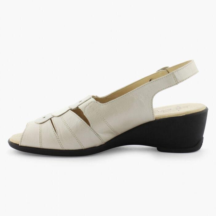 Sandales élégantes orteils et talon nus femme beige