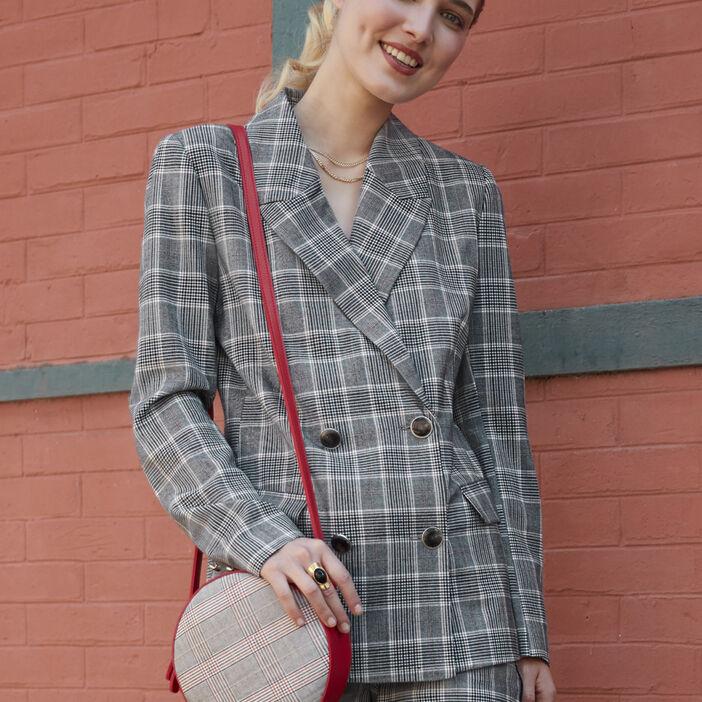 Veste à carreaux boutonnée femme multicolore