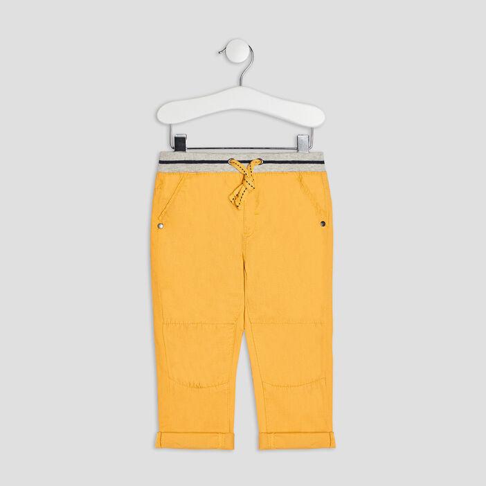 Pantalon droit bébé garçon jaune