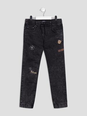 Jeans slim stretch Liberto gris garcon