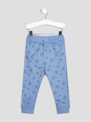 Pantalon jogging droit bleu bebeg
