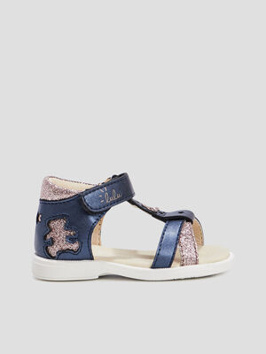 Sandales Lulu Castagnette bleu bebef
