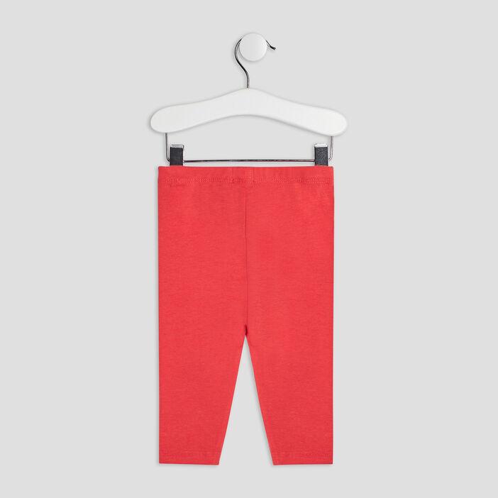 Pantalon legging bébé fille rouge