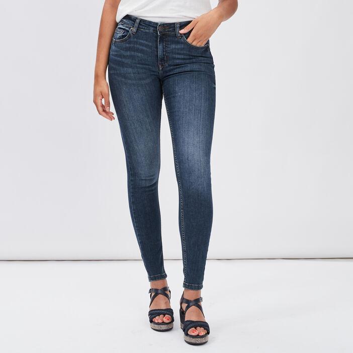 Jeans skinny délavé Creeks femme denim dirty