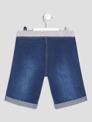 Bermuda straight en jean denim stone garcon