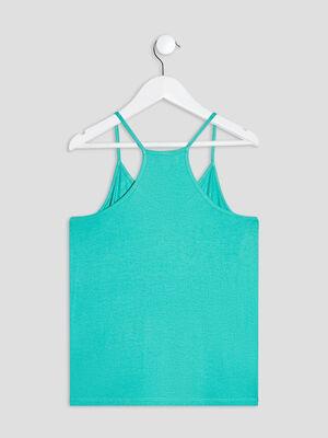 Ensemble pyjama 2 pieces vert fille