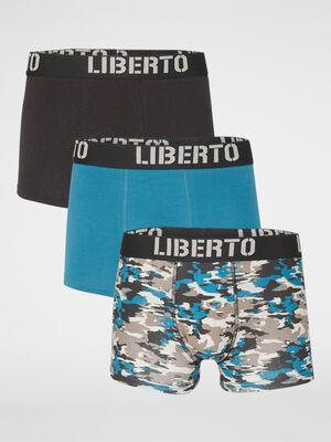 Lot 3 boxers Liberto gris homme