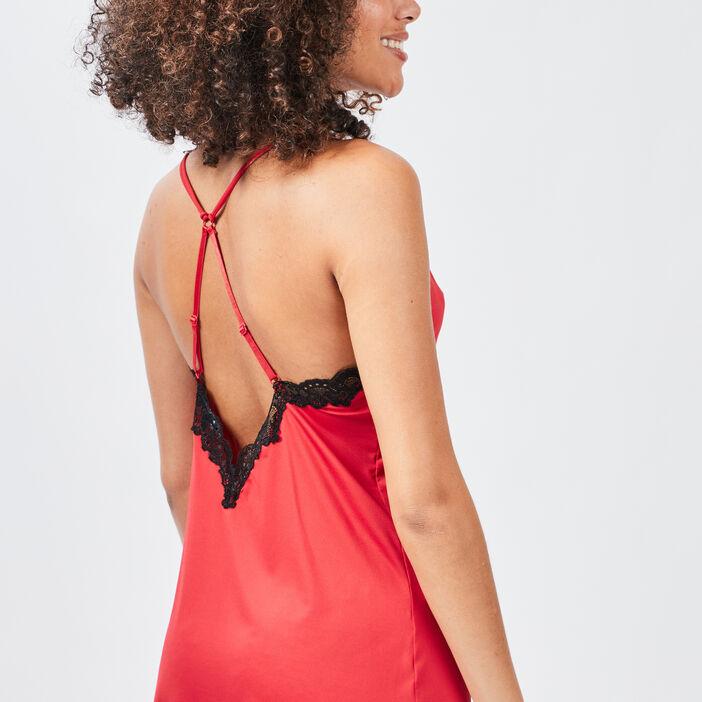 Nuisette avec dentelle femme rouge
