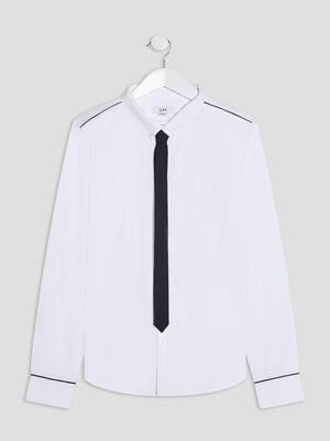 Chemise manches longues blanc garcon