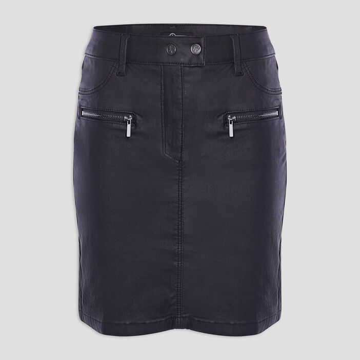 Jupe ajustée poches zippées femme noir