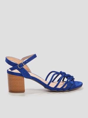 Sandales a talons bleu femme
