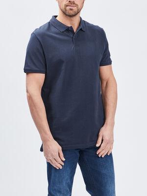 Polo manches courtes bleu marine homme