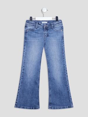 Jeans flare Creeks denim double stone fille