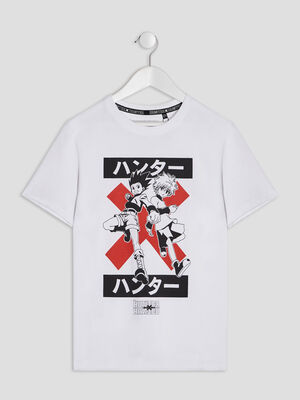 T shirt Hunter X Hunter blanc garcon