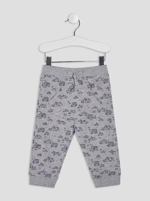 Pantalon jogging droit gris bebeg