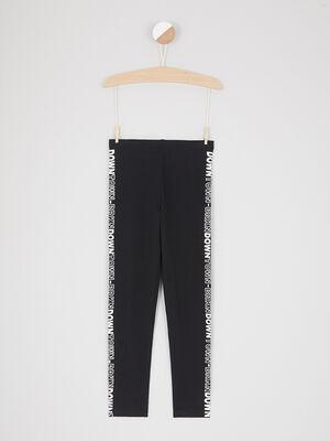 Legging a motif zebre noir fille
