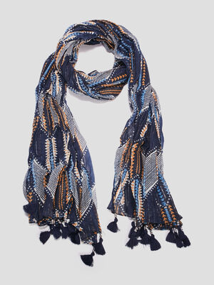 Foulard a pampilles multicolore mixte